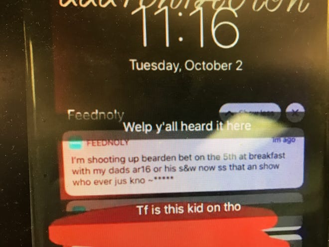 This post has been circulating on social media Wednesday, showing an alleged threat against Bearden High School.