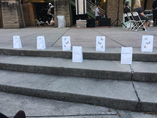 Luminaries, each in memory of a baby, line the steps at Volunteer Landing during last year's Pregnancy and Infant Loss Remembrance Day. This year's event will be at 6 p.m. Oct. 14 at Ijams Nature Center.
