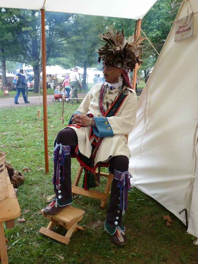 Jamie Oxendine has been participating in the Feast of the Hunters' Moon for 12 years.