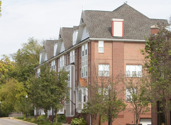 A newer housing development in downtown Howell, shown Wednesday, Oct. 3, 2018, is a sample of the style of downtown Howell.