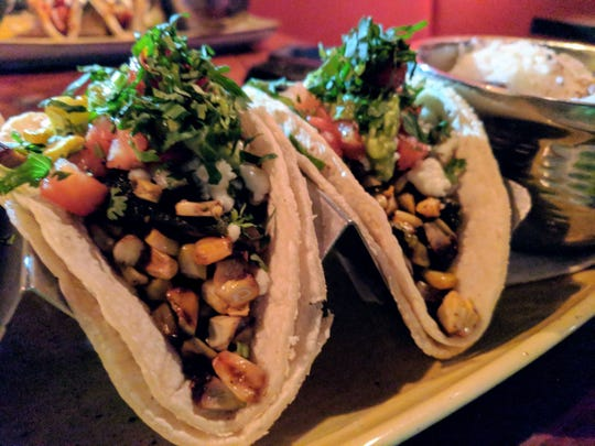 Vegetarian tacos at Guaca Mole restaurant in Louisville.