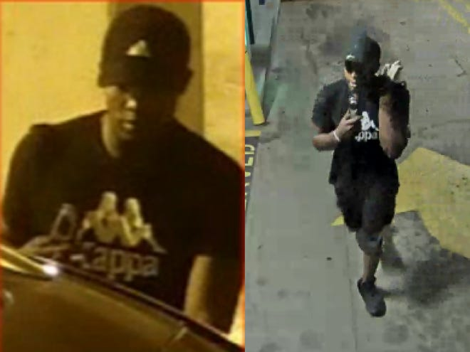 Louisville Metro Police are searching for a man they say has broken into vehicles parked in garages in downtown Louisville.
