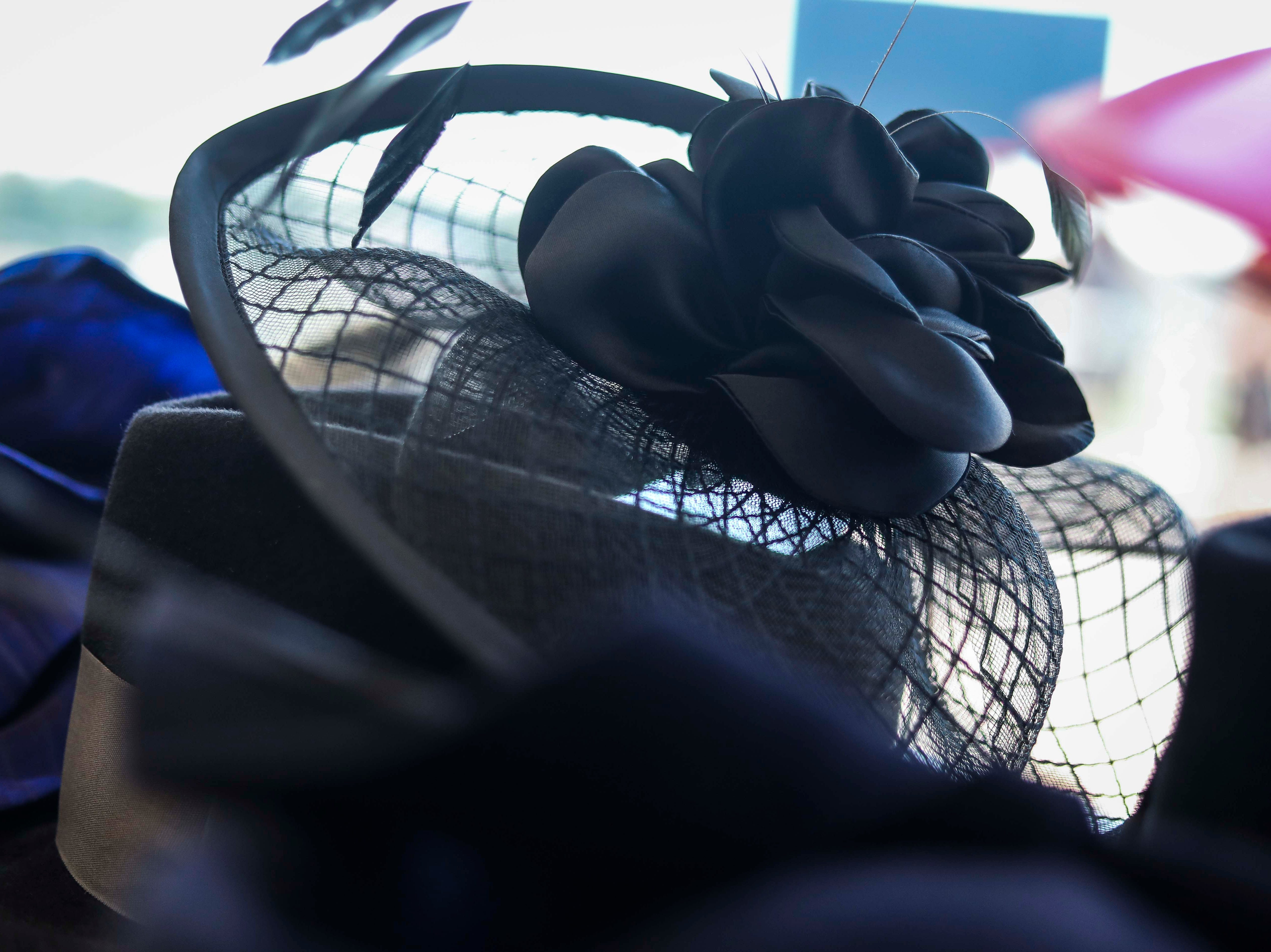 Christine Moore's handmade Cam Hats made for the Breeder's Cup (November 2) on display at Churchill Downs on Wednesday, October 3, 2018.