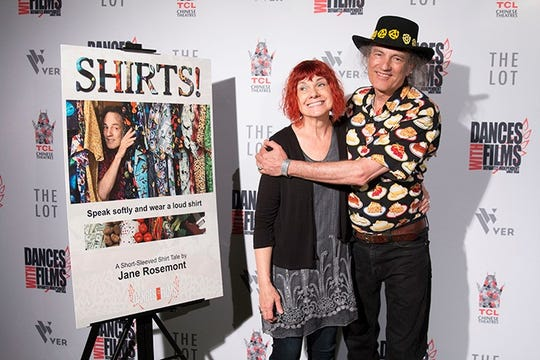 """Dick and Jane Rosemont are coming to the Robin Theatre. Dick will present music sessions on 60s music and Motown. Jane will show her film """"Shirts."""""""