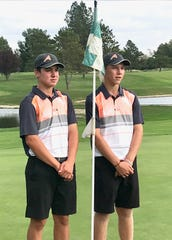 Ashland's Max Watson (left) was medalist with a 72 and teammate Tyler Sabo was medalist runner-up with a 76 in Tuesday's Division I sectional golf tournament at Mohawk Golf and Country Club.