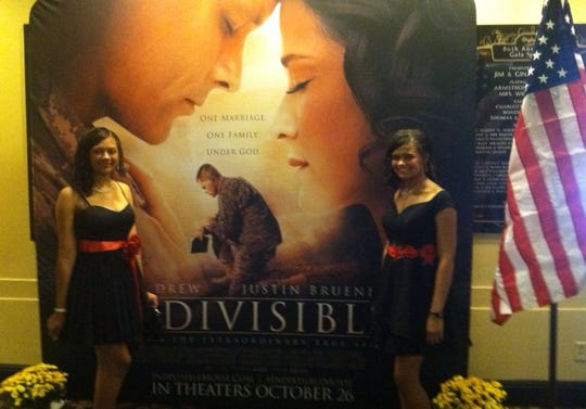 """Georgia twin teens Hannah Franchesca Samuel and Naomi Noel Samuel were among the """"Indivisible"""" stars at the film's world premiere in Memphis."""