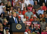 President Donald Trump was vocal during a rally in Southaven, Mississippi Tuesday about military advancements.