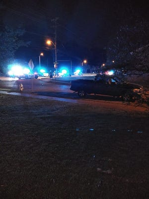 A resident of the Bartlett neighborhood tweeted photos of more than a dozen police cars on Stage Road, near Covington Pike.