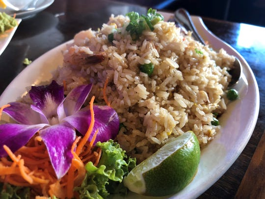 Shrimp fried rice from Sushi-Thai Too, Naples.