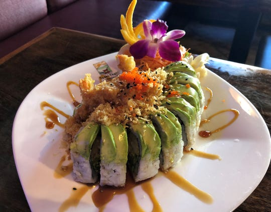 The sea angel roll from Sushi-Thai Too, Naples.