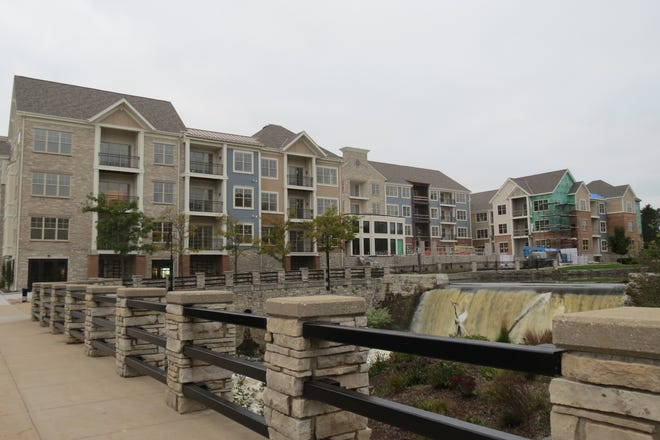 Phase two of  RiverWalk on the Falls,  at W167 N8921 Grand Ave. and N88 W16616 Main St., will be delayed, if the architectural control board approves a 12-month extension at their Sept. 22 meeting.  Phase two includes 45 residential units and nearly 3,200-square-feet of commercial space, according to village documents.