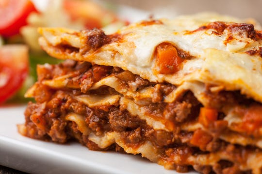 Glorioso's Lasagna calls for fresh lasagna sheets in this heavenly recipe.