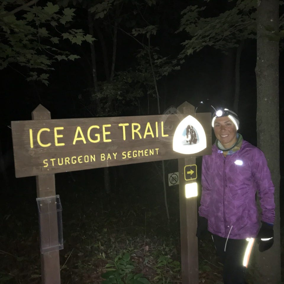 Milwaukee's Annie Weiss raced 1,200 miles across Wisconsin's Ice Age Trail; her time broke the 2007 men's record