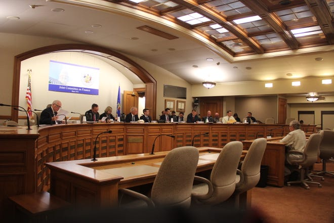 George Meyer, right, gives testimony at the Oct. 1 meeting of the Joint Committee for Review of Administrative Rules at the Capital in Madison.
