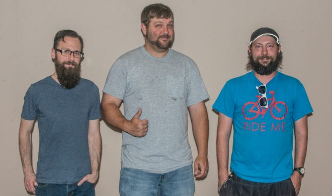 """From left are Josh Carples, Clay """"Buckettruck"""" Smith, and Jason Snellgrove, AKA Jiggly J. Slickwood, of the trio Barrens."""