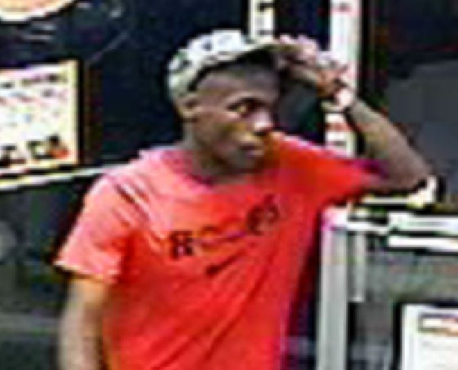 Montgomery police are searching for this man in connection to a breaking and entering report and use of a fraudulent credit card report.
