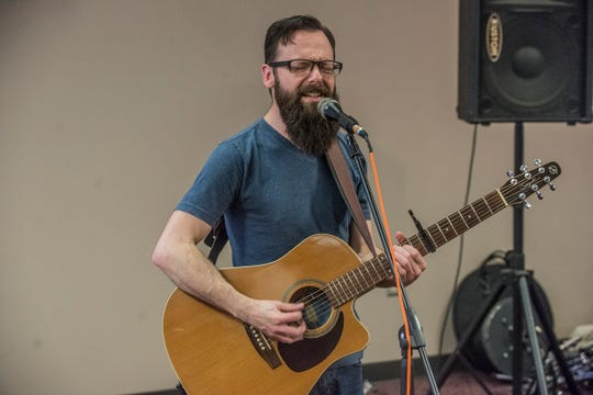 Josh Carples performs at the Montgomery Advertiser