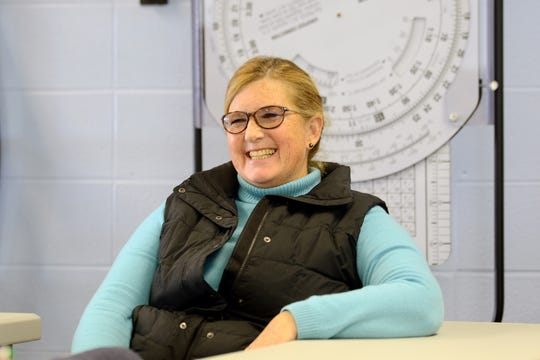 Muncie Flight Training instructor Kathy Klingler at the Delaware County Airport in 2017.