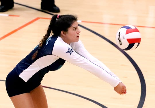 Siegel's June Padilla (6) bumps the ball during Tuesday's 7-AAA tournament championship match.