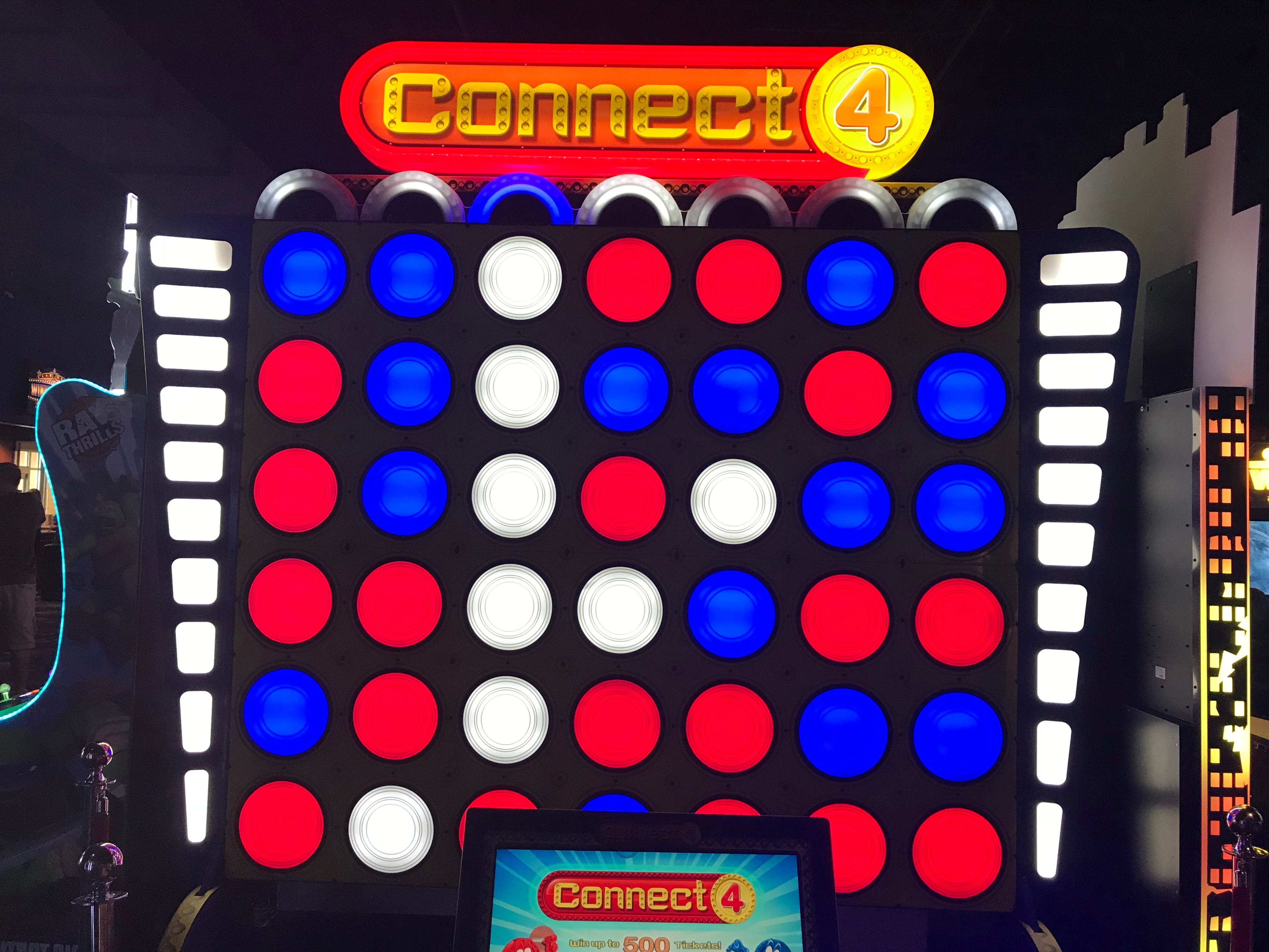 Stars and Strikes in Smyrna, Tenn. has a giant Connect 4 game in its arcade.