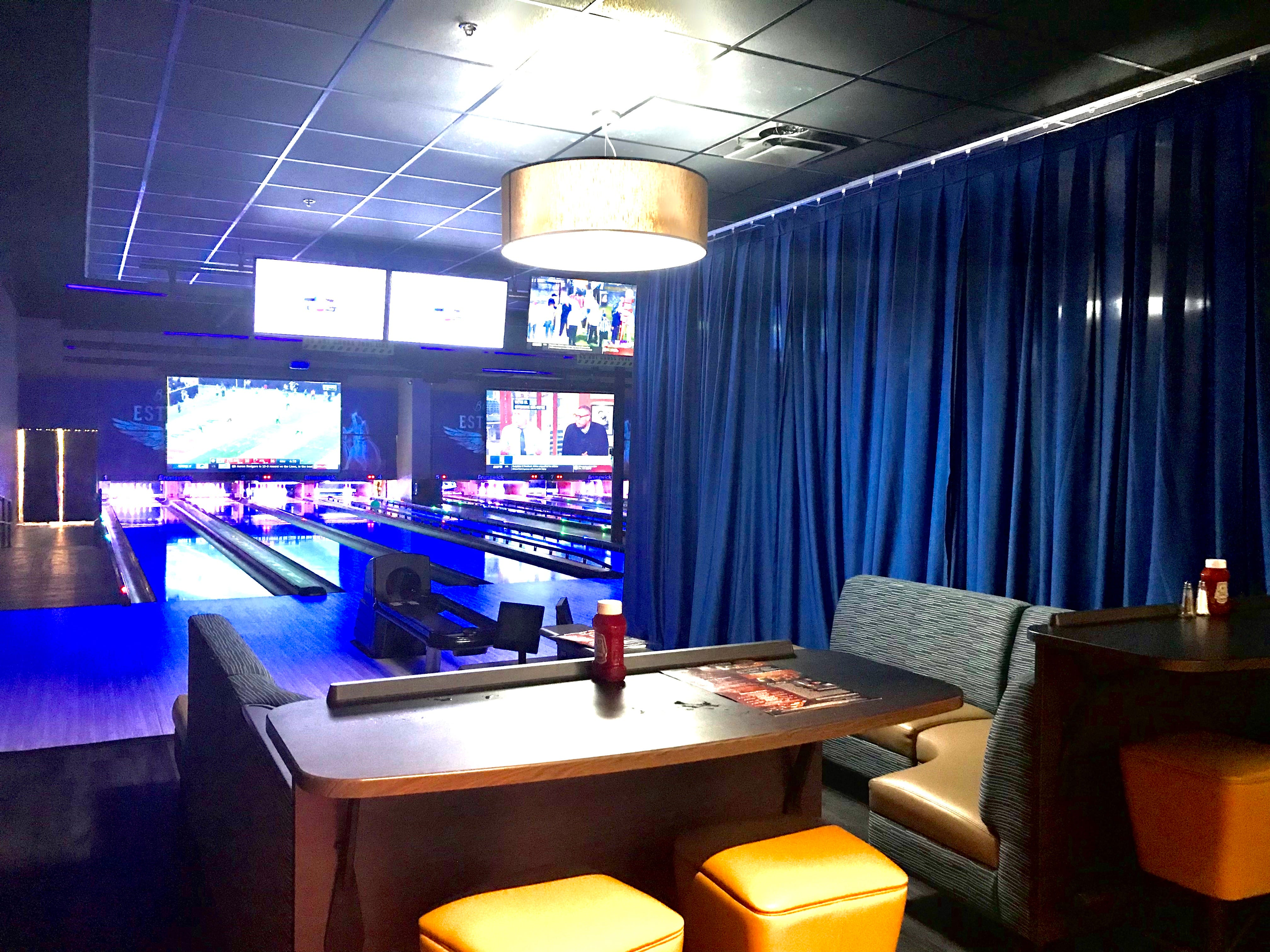 A look at a VIP bowling lane at Stars and Strikes in Smyrna, Tenn.