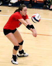 Stewarts Creek's McKenna Young passes during a 7-AAA tournament match.