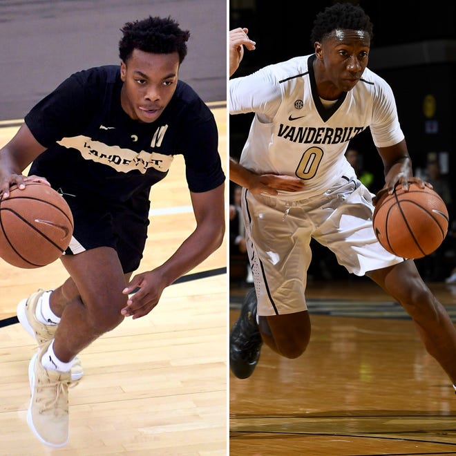 Vanderbilt freshman Darius Garland, left, and sophomore Saben Lee will give the Commodores a dynamic backcourt in the 2018-19 season.