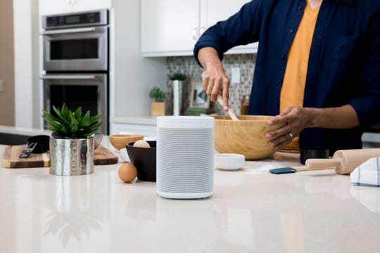 Sonos speakers can go anywhere, even the kitchen countertop.