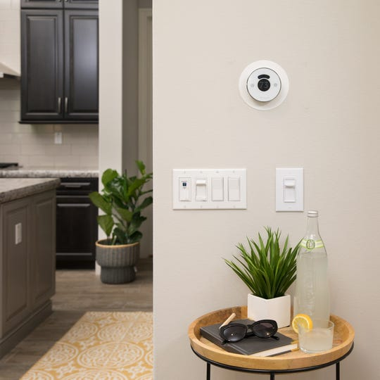 Light switches from Leviton and smart thermostats from NEST and Honeywell can be controlled remotely with Pulte's Smart Home technology.