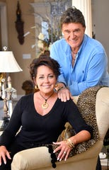 Country singer Kelly Lang with her husband, T.G. Sheppard, Thursday, Aug. 23, 2018, in Hendersonville, Tenn.