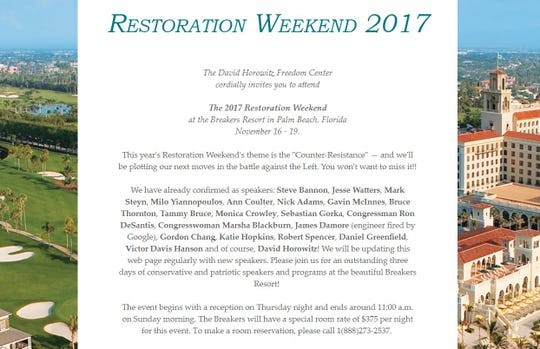 A lineup of the 2017 Restoration Weekend