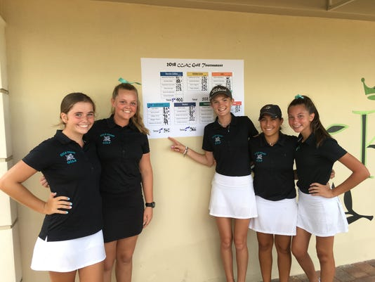 Gulf Coast girls win second straight CCAC golf title