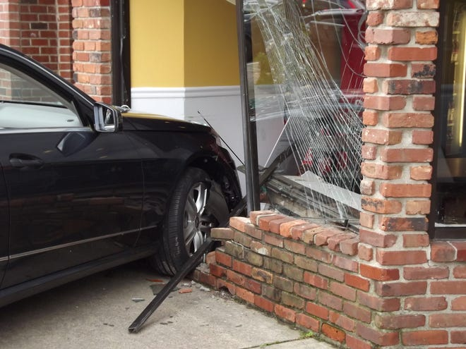 A car caused significant damage to a Glen Rock pizzeria Oct. 3, 2018.