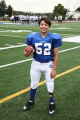 11-year old Josh Piperato is playing football for the first time in North Arlington.