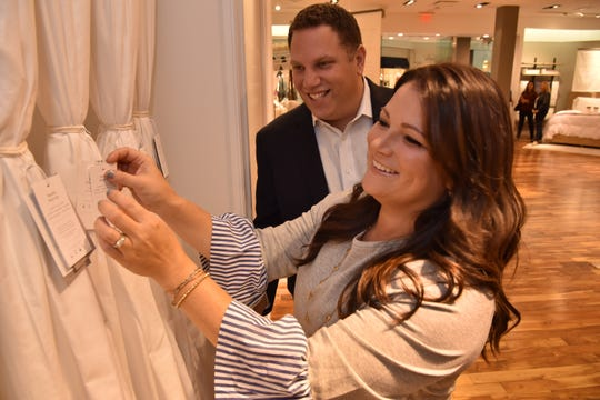 Missy and Scott Tannen, founders of Boll & Branch, at their new store in The Mall at Short Hills.