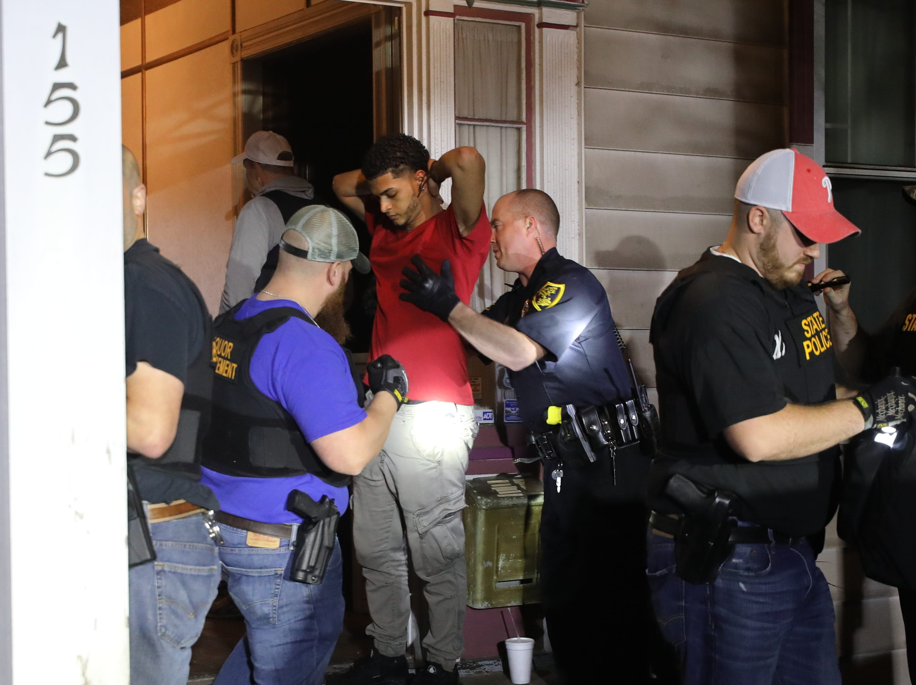 Police searched those patronizing a residential home in Hazleton that was allegedly serving alcohol illegally after hours. Police raided the home that was run by Dominican immigrants. Hazleton officials believe some of the immigrant population of the town are not familiar with local laws and sometimes break the laws unknowingly.