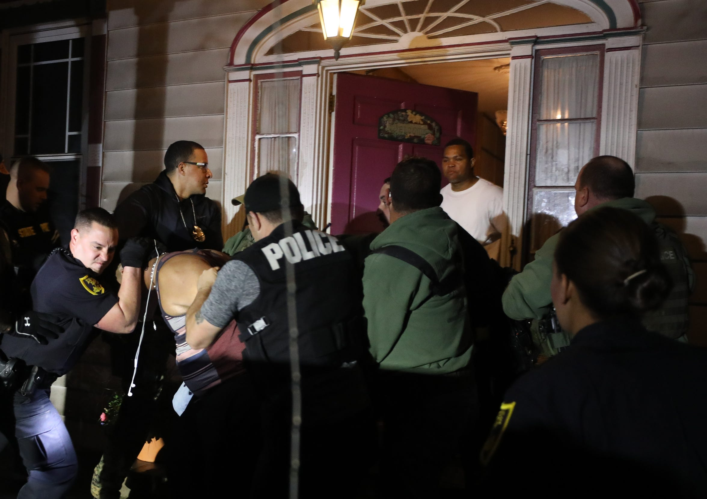 """More than two dozen officers swarmed a Victorian house in Hazleton in May that was hosting an illegal after-hours party, largely attended by Hispanic residents with ties to the Dominican Republic.  """"I've been saying for years, we need to inform the people moving here from the Dominican Republic what our local laws are,"""" said Jeff Cusat, Hazleton's Republican mayor."""