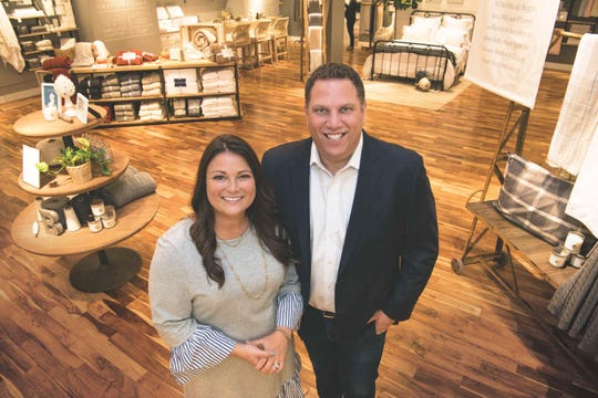Missy and Scott Tannen, founders of Summit-based Boll & Branch, in their first store at The Mall at Short Hills.