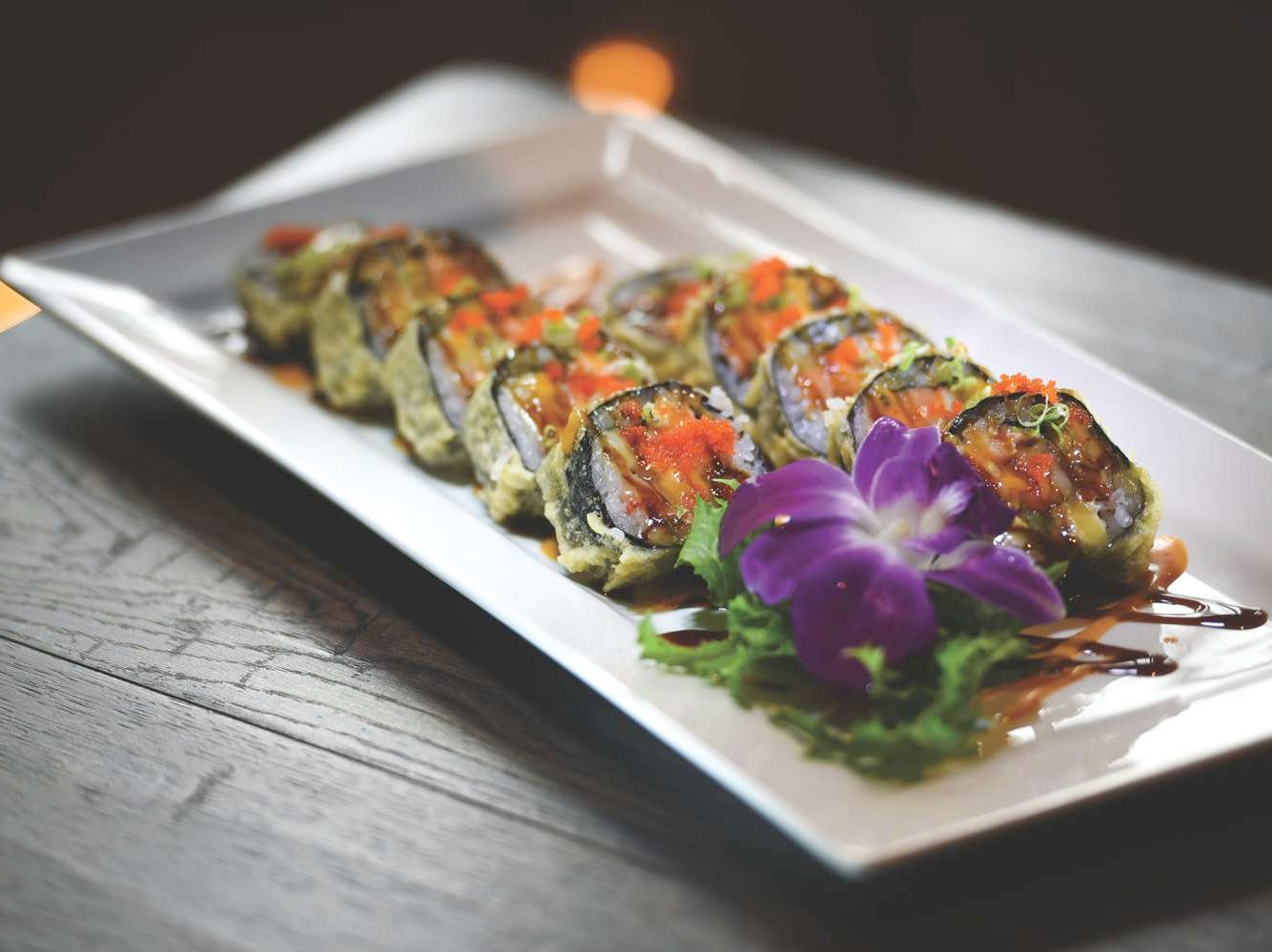 Rock N Roll sushi roll at Dozo Sushi & Asian Cuisine in Livingston