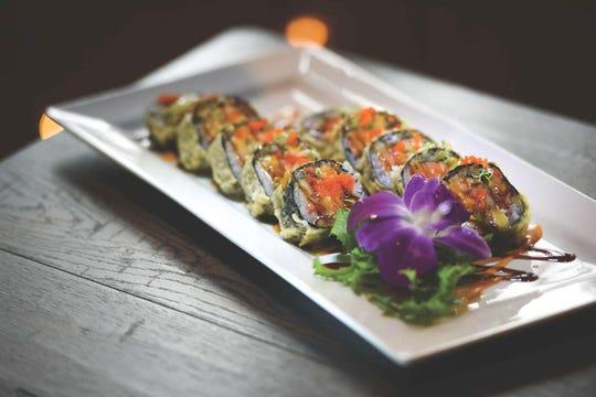 Rock N Roll sushi roll at Dozo Sushi & Asian Cuisine in Livingston