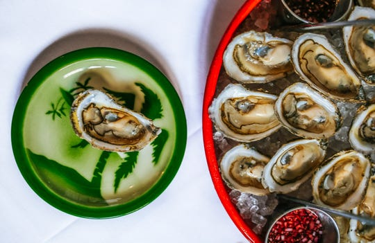 Oysters on the half shell at No. 12 in Ridgewood