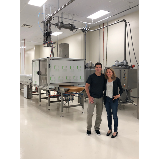 Michael and Diana Levy pose in their 12,000 square-foot manufacturing facility in East Hanover.