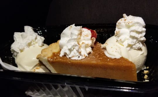 The Pumpkin Sundae ($5.09) served at Caliche's Frozen Custard.