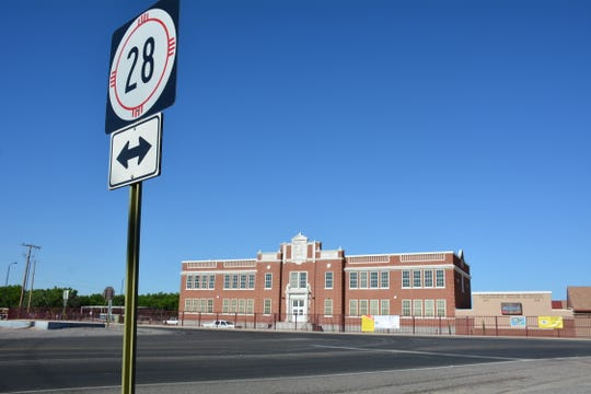 Gadsden High Old English Building has been a landmark on NM Highway 28 for drivers travelling to and from Las Cruces to Anthony since 1928. The Old English Building will open its doors to students for the 2018-19 school year as a result of a $1.2 million face lift that will be complete by June 22.