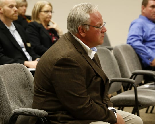 Deputy Secretary of the Interior David Bernhardt listens to comments Tuesday during a San Juan County Commission meeting in Aztec.