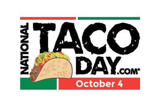 National Taco Day is Tuesday, Oct. 4.