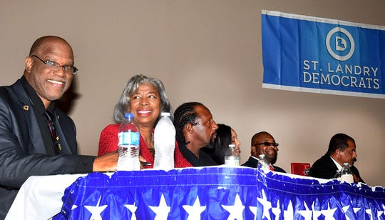 Candidates for the office of Mayor of the city of Opelousas square off at a recent candidates forum sponsored by the St. Landry Democrats.