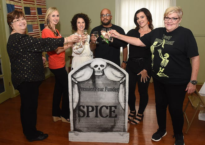St. Landry-Evangeline United Way representatives host a luncheon for Boogie Ball fundraiser. From left are Ginger Lecompte, Shelly Fontenot, Brandon Singleton, Denise Cannatella, Melanie Lee-LeBouef and Susan Fisher.