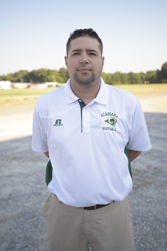 Acadiana High School football coach Kyle Seibold
