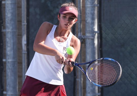 Rancho Mirage gils tennis, with players like Lizbeth Arias, is rolling in the early season.